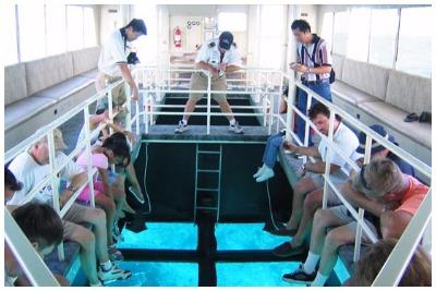 قایق کف شیشه ای |تفریحات آبی کیش| گشتانو: رزرو تفریحات آبی کیش|گشتانو:گردشگری در کیش